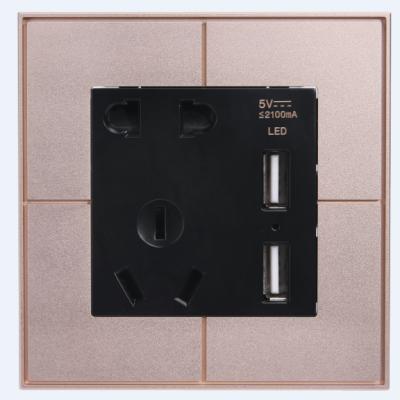 五孔墙面插座带USB